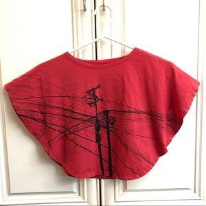 Unique red crop t-shirt from Vietnam